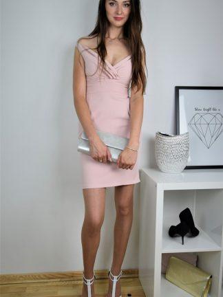 Sukienka koktajlowa Glam-róż