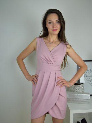 Sukienka Tulipan w kolorze brudnego różu